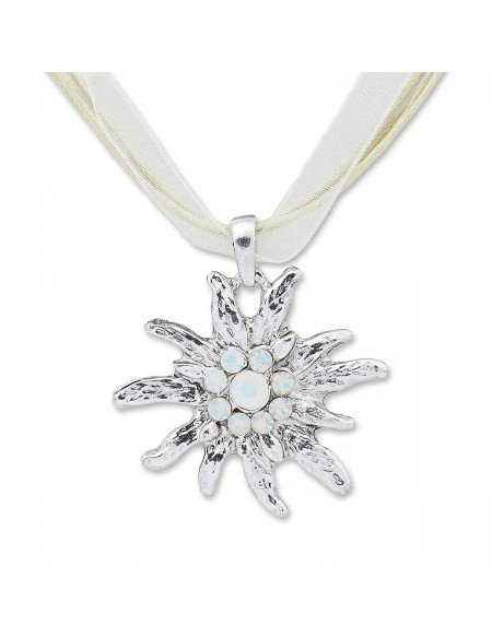 Collier grand edelweiss