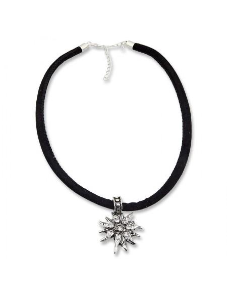 Collier velours noir edelweiss